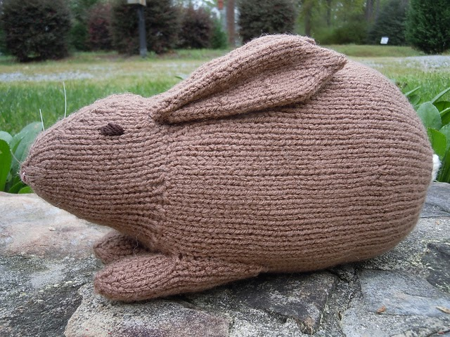 Knitted Rabbit Pattern : Knitting With Karma: Lo-Cal Easter Bunny - Free Pattern!
