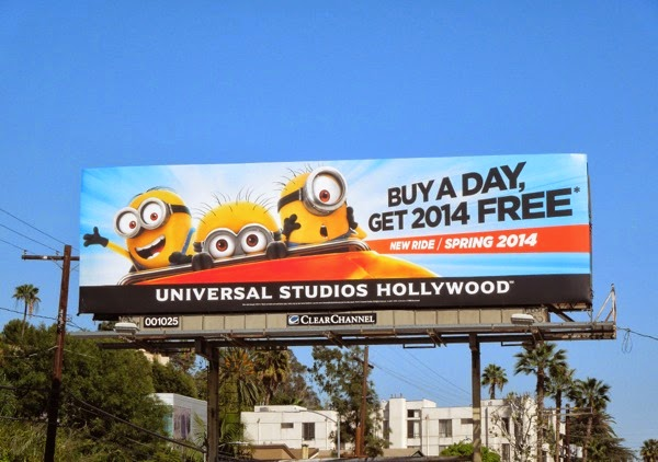 Despicable Me Minion Mayhem ride Universal Studios Hollywood billboard