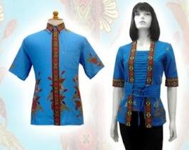 Model baju batik modern 018