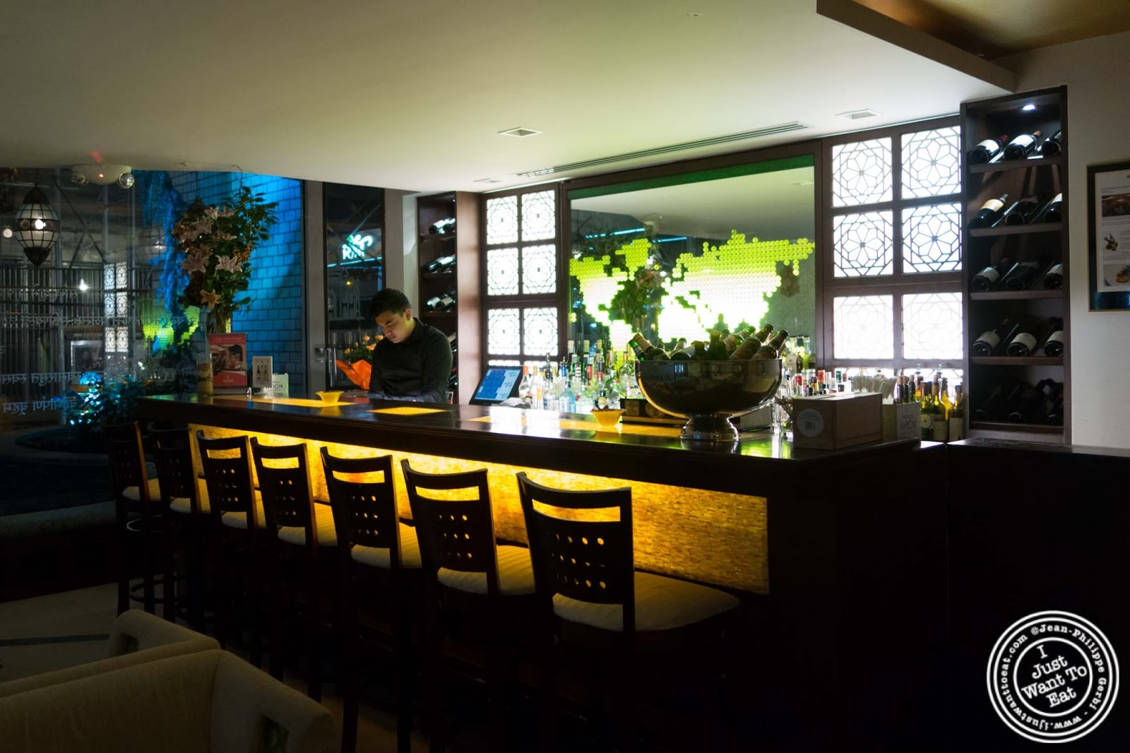 Beautiful Image Of Bar And Lounge At Tulsi, Indian Restaurant In Midtown East, NYC,