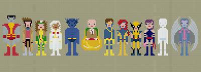 X-men Cross Stitch