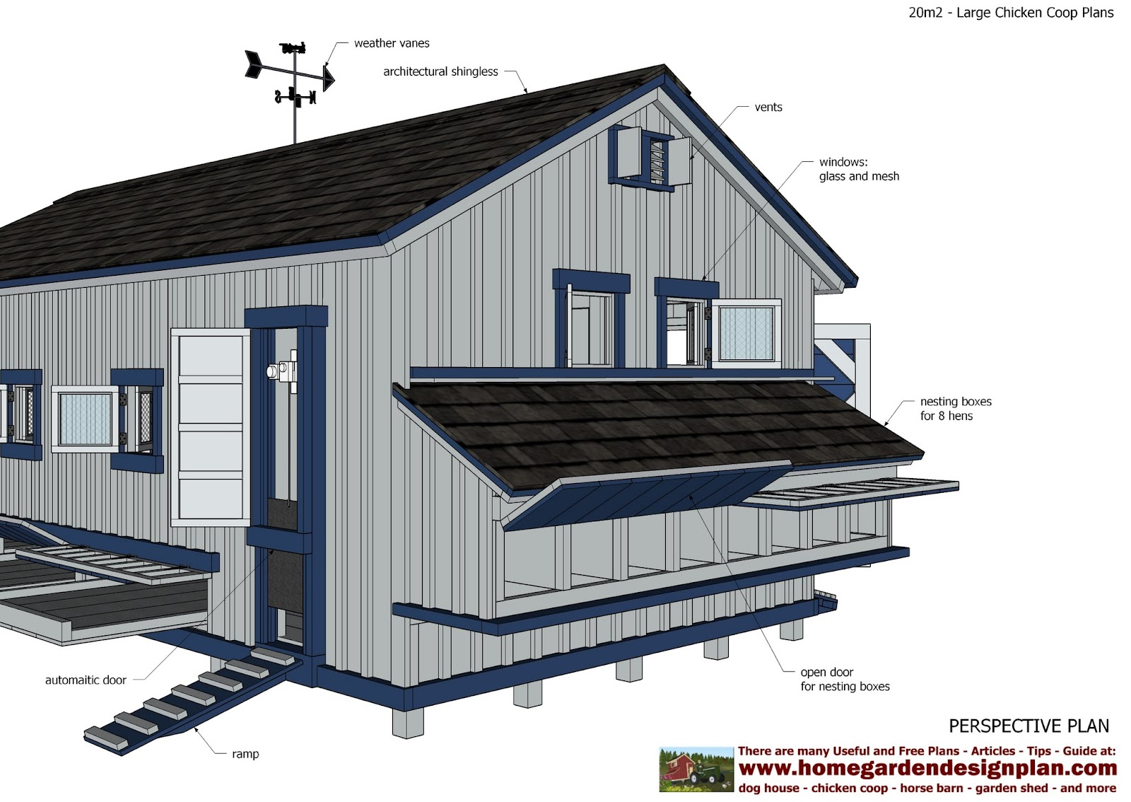 home garden plans l310 large chicken coop plans