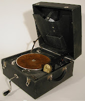 picture of first talking book player from AFB