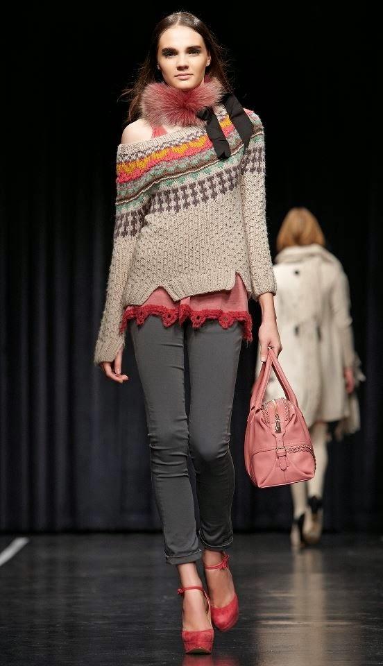 dziany sweter damski