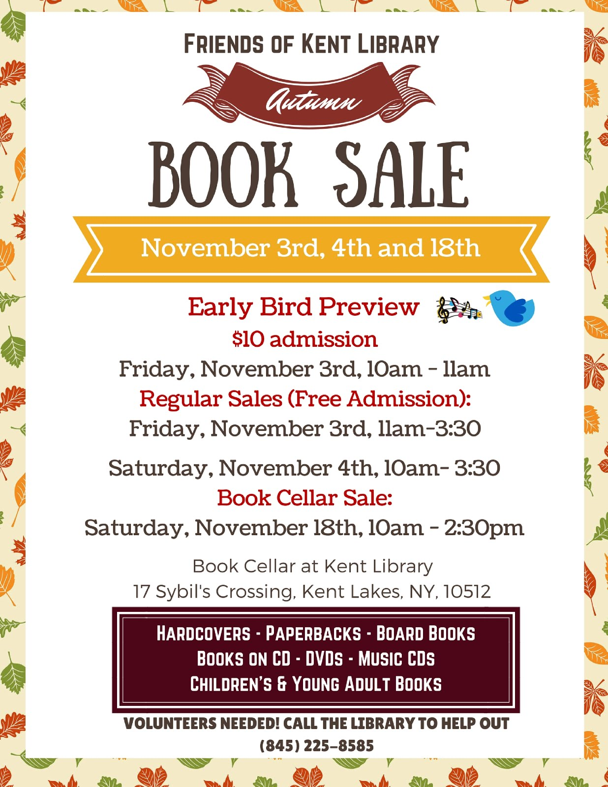 Autumn Book Sale