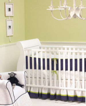 View From My Heels Lime Green Navy Blue Nursery