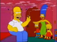 Homer Simpson did pot when he had his eyes pecked by a murder of he was cured...