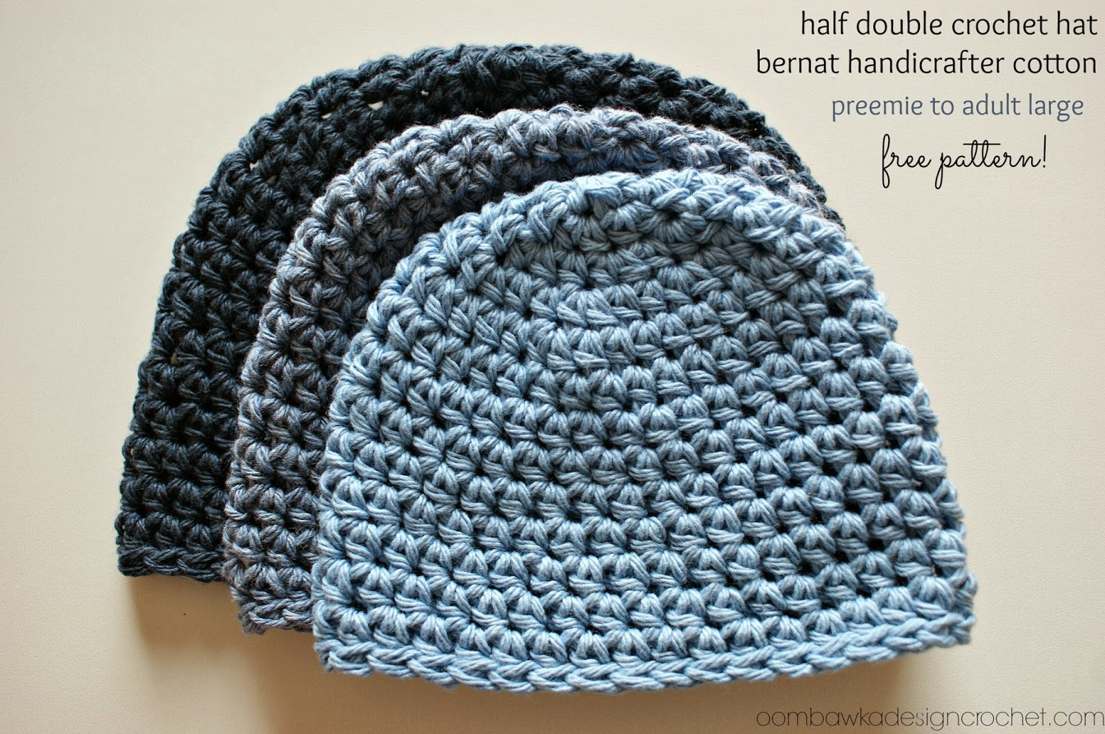 Crochet Patterns Using Cotton Yarn : Crochet Hat Pattern #2 Free Crochet Pattern ? Oombawka Design ...