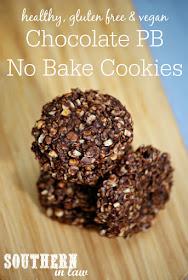 Vegan Chocolate Peanut Butter No Bake Cookies Recipe - healthy, low fat, gluten free, refined sugar free, clean eating friendly, no bake cookies, vegan