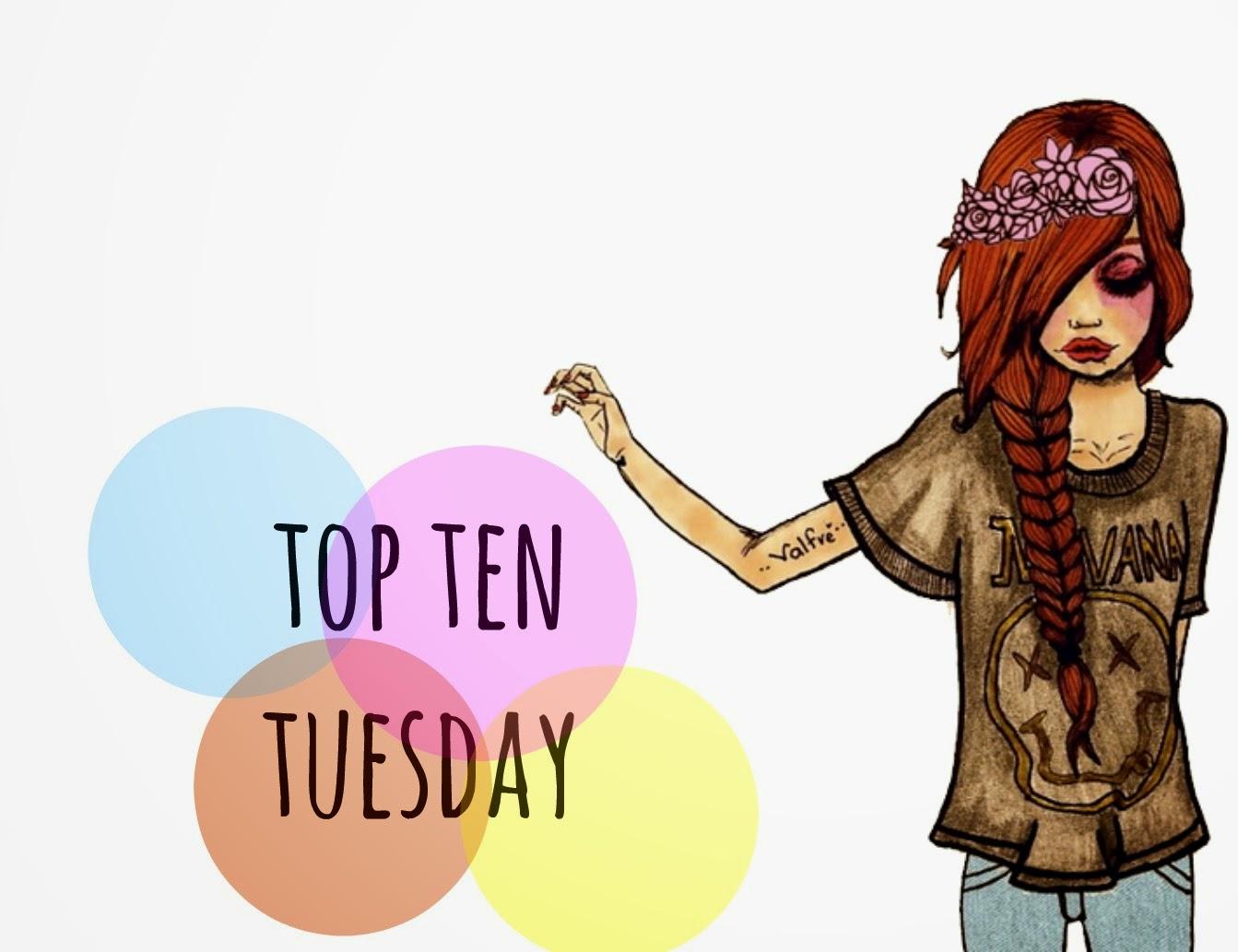"""Top ten tuesday #2 - """"Personajes de los que me enamoraria si yo tambien fuera un personaje"""""""