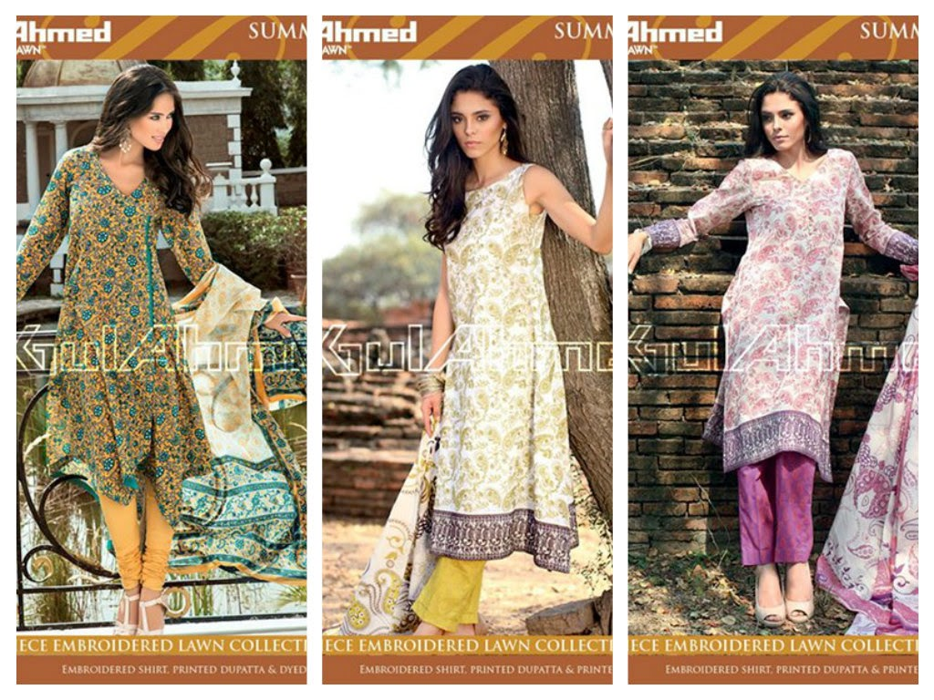 Gul Ahmed Summer Wear Women Dresses 2015 Volume 2