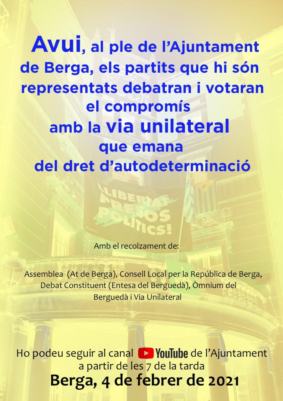 COMPROMÍS AMB LA VIA UNILATERAL