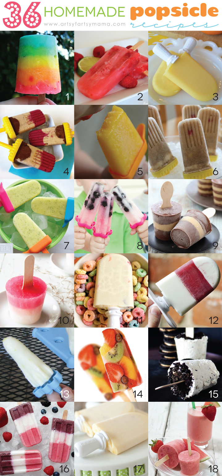 36 Homemade Popsicle Recipes (1-18)
