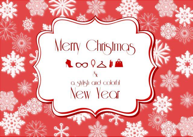 Christmas and New Year wishes card from 30somethingurbangirl.com