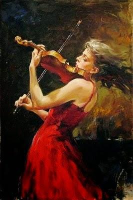 pintura sobre música - amor à música