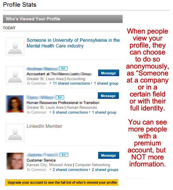 LinkedIn, Who's viewed your profile on LinkedIn, LinkedIn profile stats,