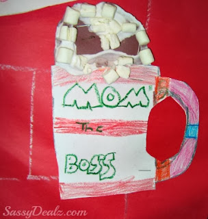 hot cocoa christmas craft puffy paint