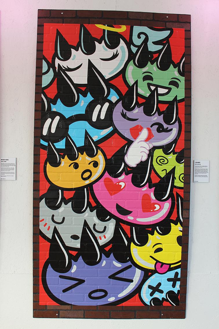 Mural by Claw Money, Art Basel 2014, Miami Beach