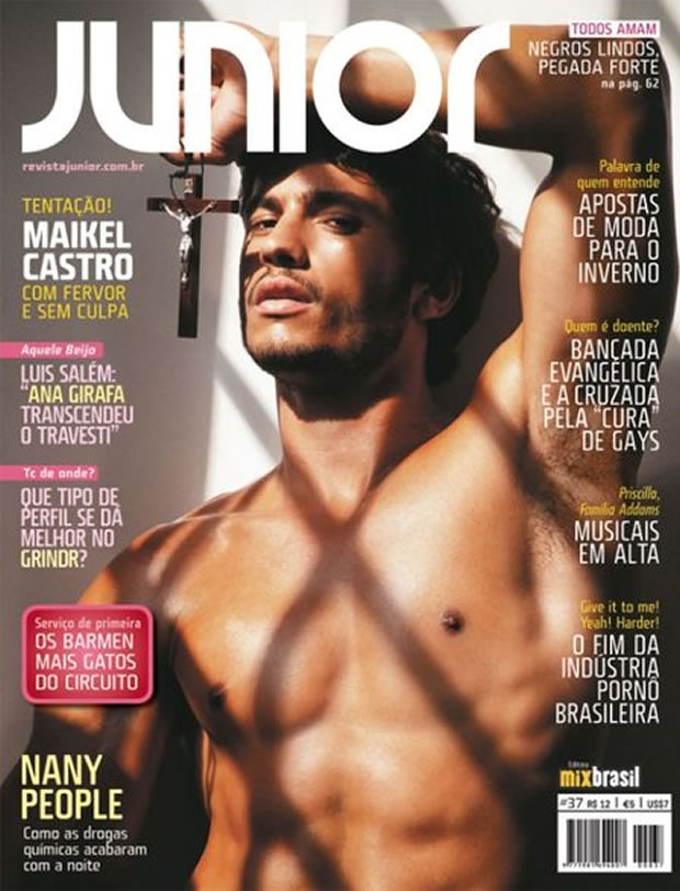 O modelo Maikel Castro na capa da revista &#8220;Junior&#8221; (Foto: Didio/Divulgao)