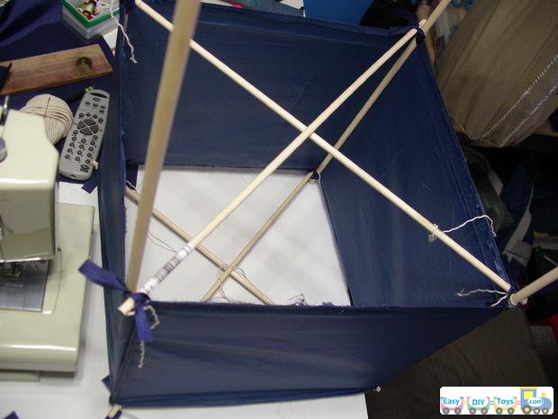 homemade box kite