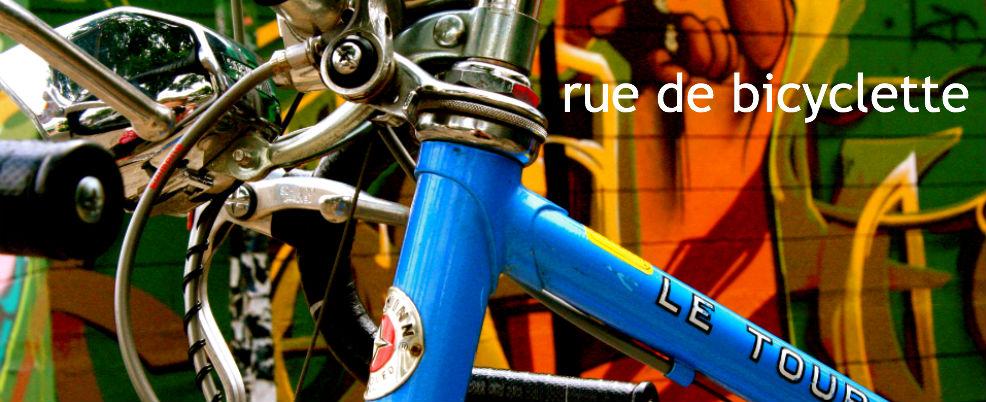 rue de bicyclette
