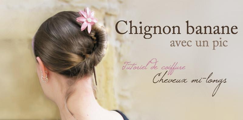 Accessoire cheveux chignon banane - Chignon facile a faire seule ...