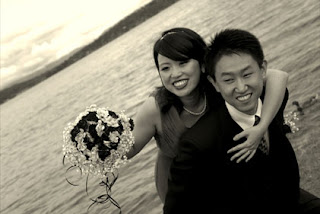 Shanshan and Wei on their wedding day
