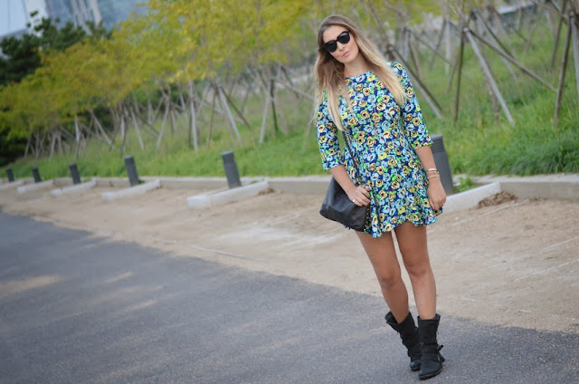 Floral Dress Grunge Outfit