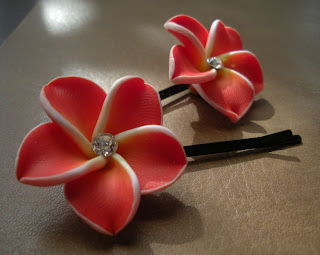 plumeria flower natural hair pins