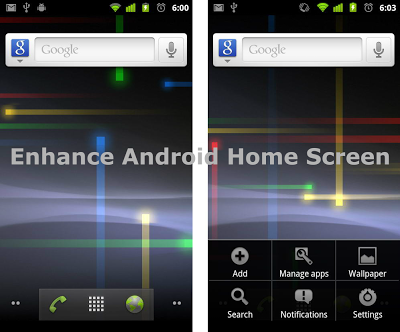 Enhance Android Home Screen