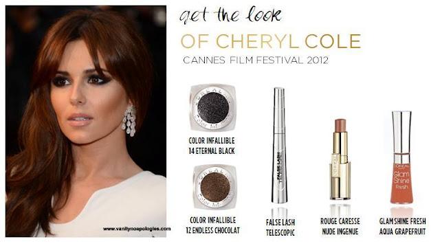 cheryl cole L'oreal makeup