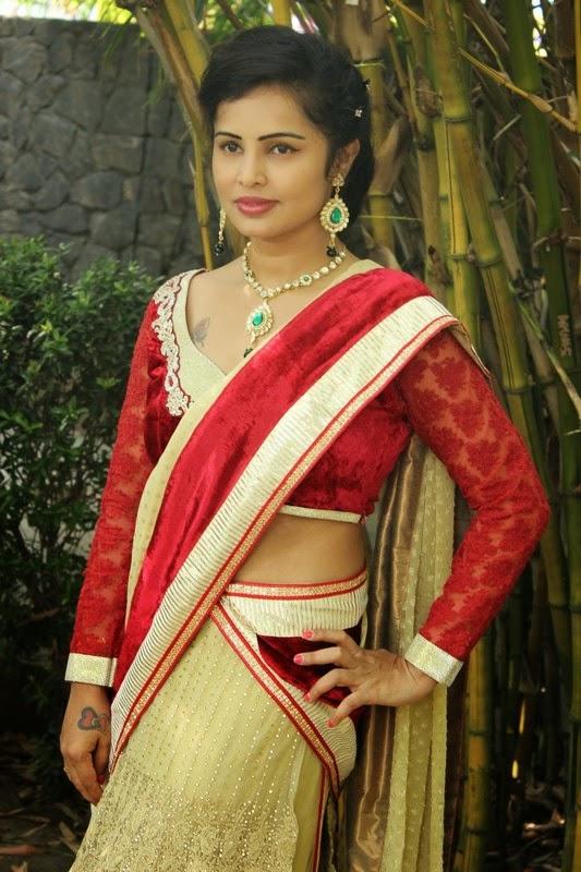 Hashika Dutt in Half Saree Latest Photos
