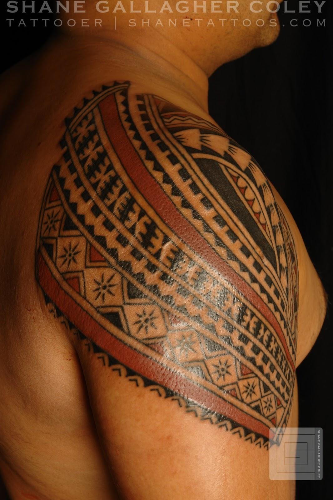 SHANE TATTOOS Polynesian Shoulder Tattoo