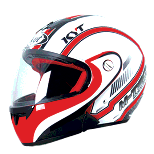 helm kyt M-Tech Simetri - White / Red (F.F)
