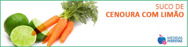 Suco de Cenoura com Limão - Sucos para Emagrecer