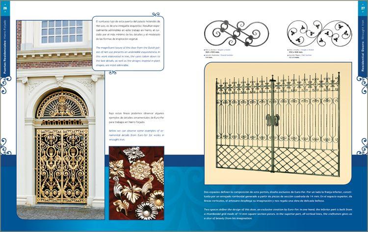 Libro puertas y portones residenciales hierro forjado pictures - Puertas hierro forjado ...