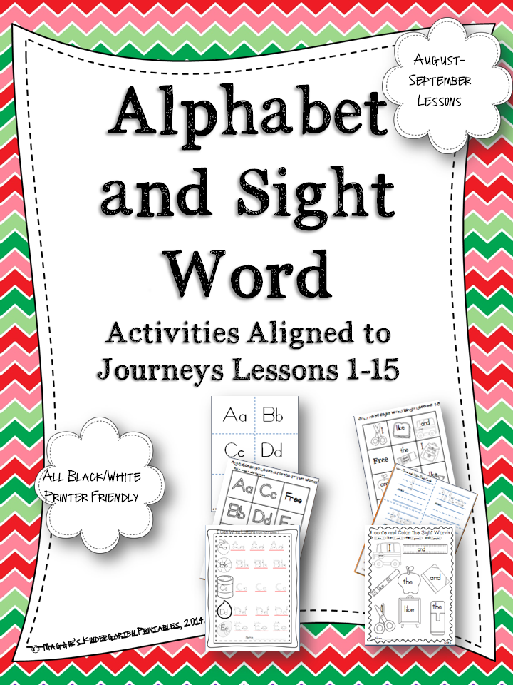 http://www.teacherspayteachers.com/Product/Beginning-of-the-Year-Alphabet-and-Sight-Word-Activities-Aligned-With-Journeys-1344384