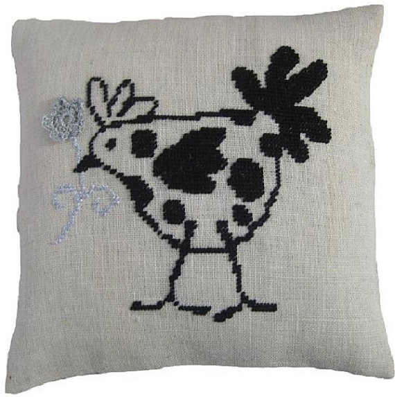 cross stitch pillow, cross stitch cushion,