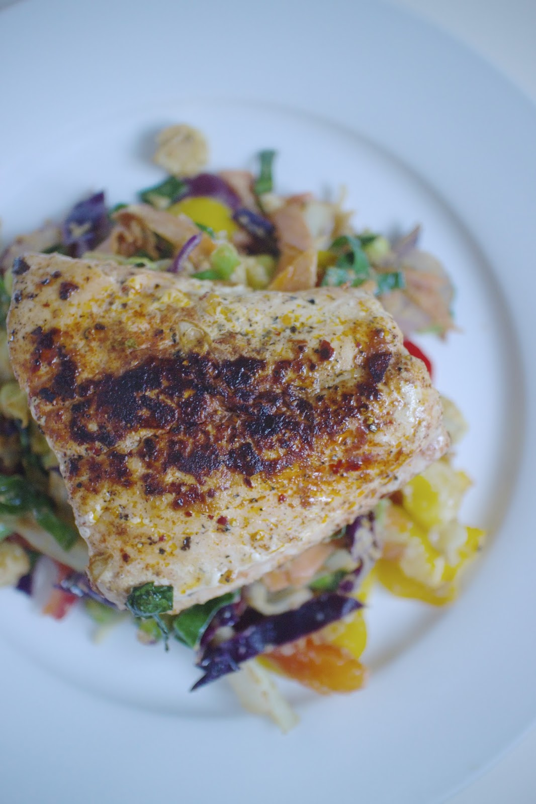 She's So Lucy Salmon Tahini Stir Fry Low Carb