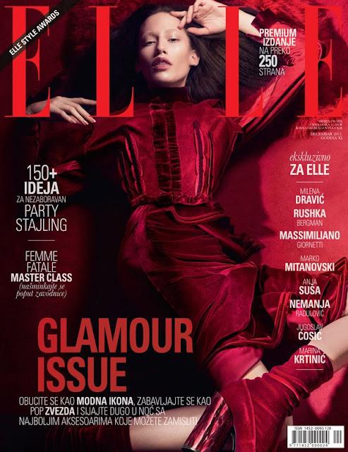 Fashion Model, @ Marina Krtinic - Elle Serbia, December 2015