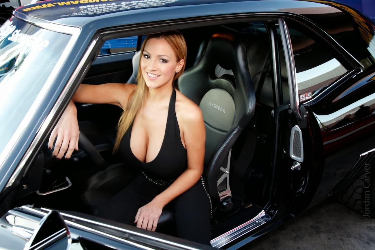 Jordan Carver Hot and Glamorous in Cobra Seat Car models
