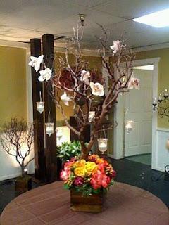 Wedding Decorations, Centerpieces and Flower Arrangements in Brown