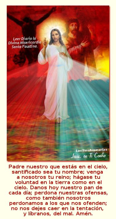 divina misericordia con el padre nuestro