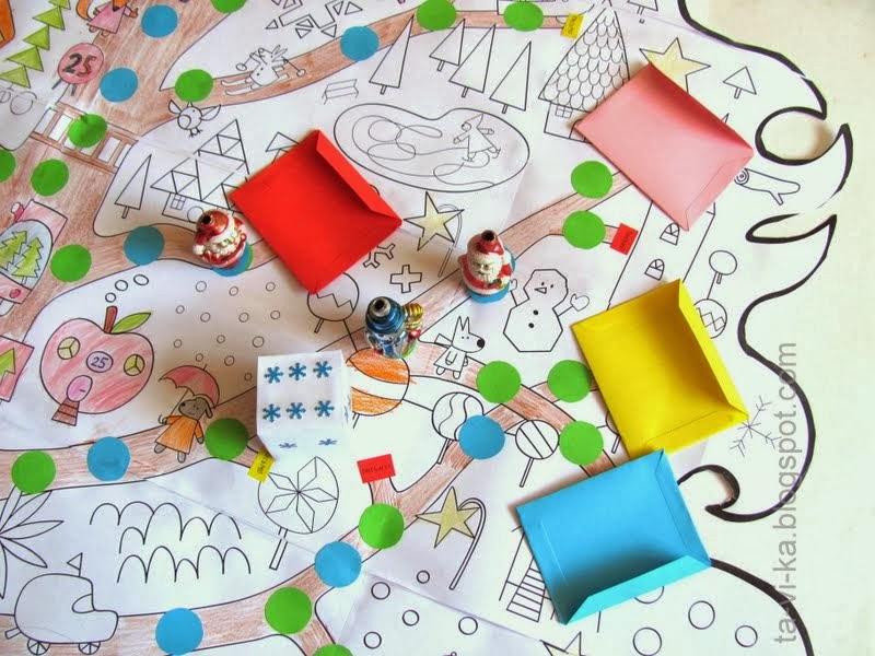 Настольная игра - ходилки Мышки (можно своими руками)