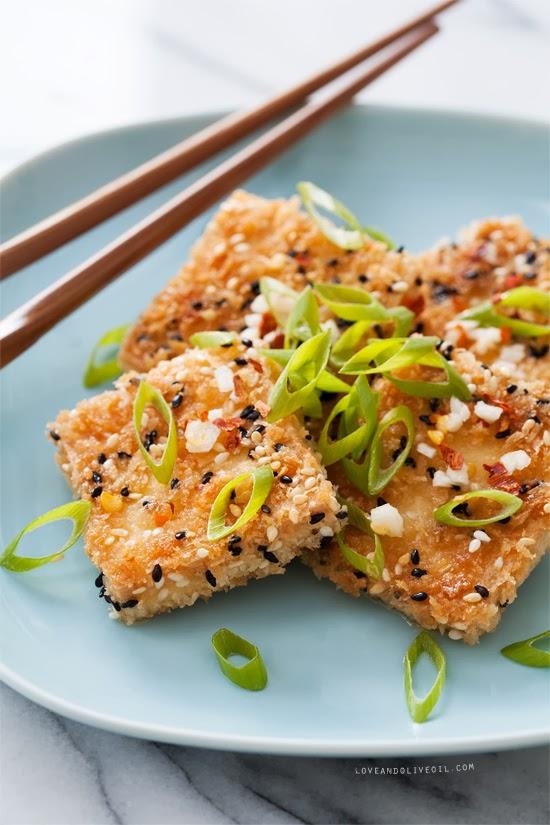 Sesame Crusted Tofu image