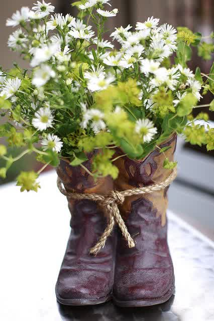 Country rustic western wedding centerpieces