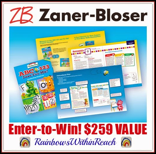 Zaner-Bloser GIVE Away!!! Handwriting Readiness Bundle with RainbowsWithinReach