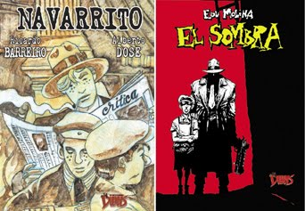 "Libros ""NAVARRITO"" de Barreiro-Dose, ""EL SOMBRA"" de Edu Molina"