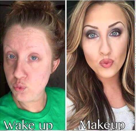 No makeup vs makeup