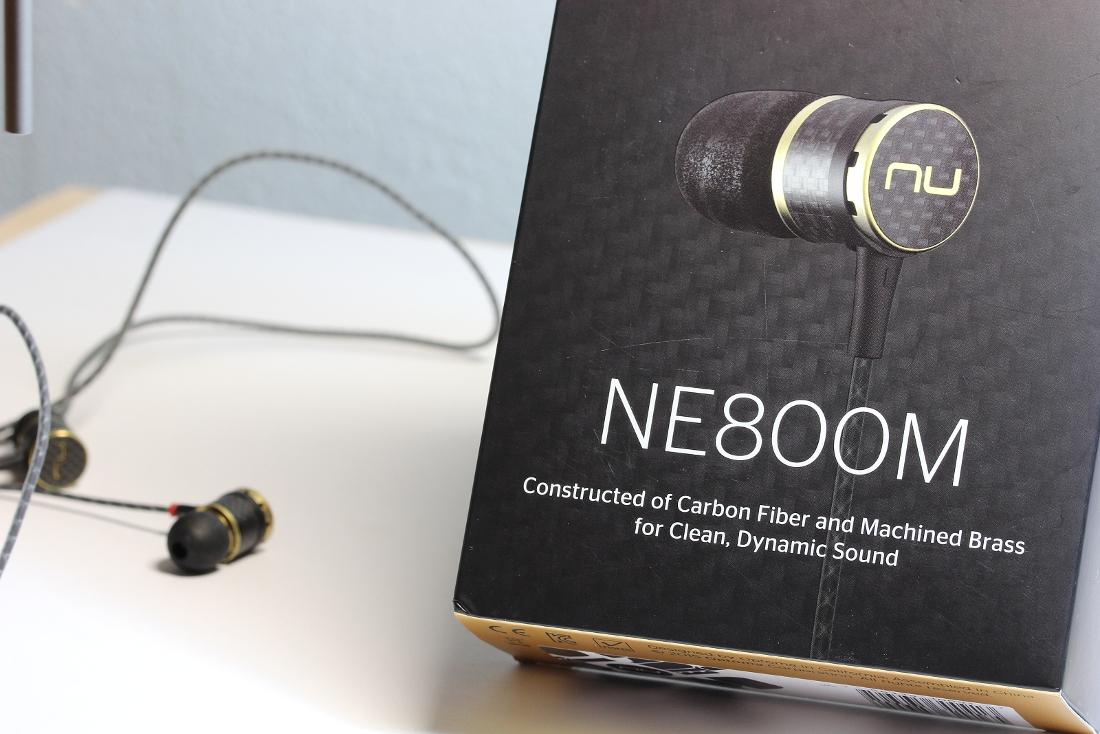 In-Ear Kopfhörer NuForce NE-800M mit Verpackung